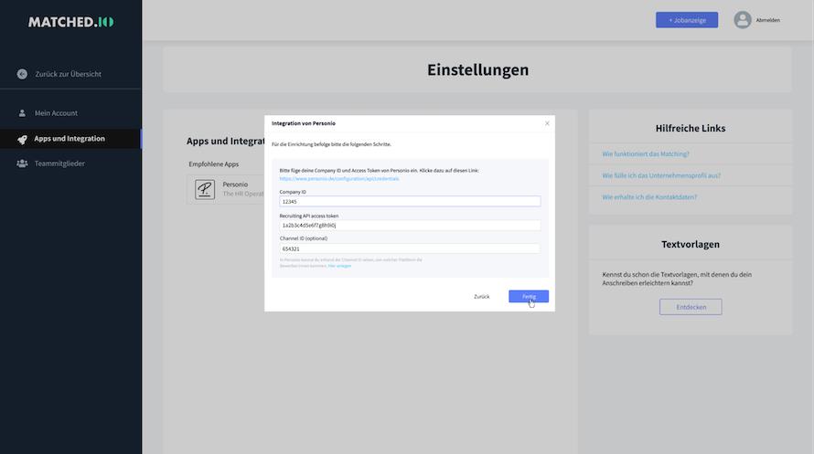 new-matchedio-settings-integrations-enter-credentials_de.png