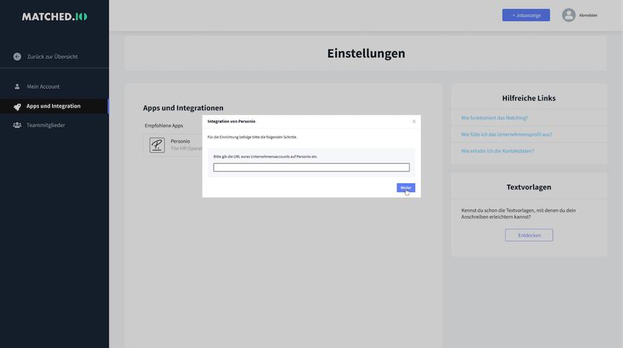 matchedio-settings-integrations-url_de.png